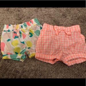 B2g1 Set of 2 Carter's Bubble Shorts 9 months